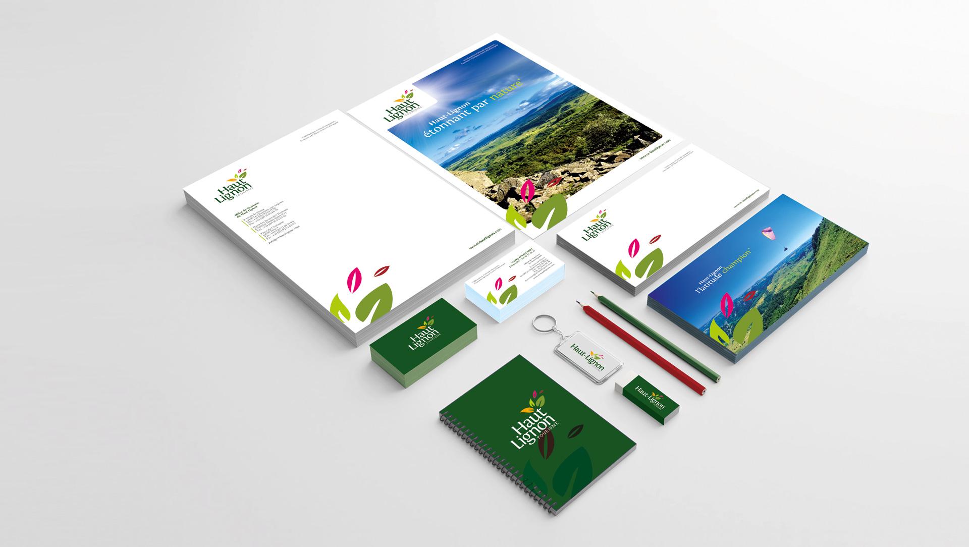 Image de marque Haut-Lignon tourisme par l'agence studio N°3