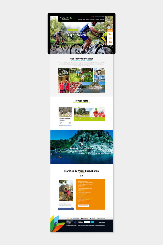 Site internet tourisme Marches du Velay Rochebaron par studio N°3