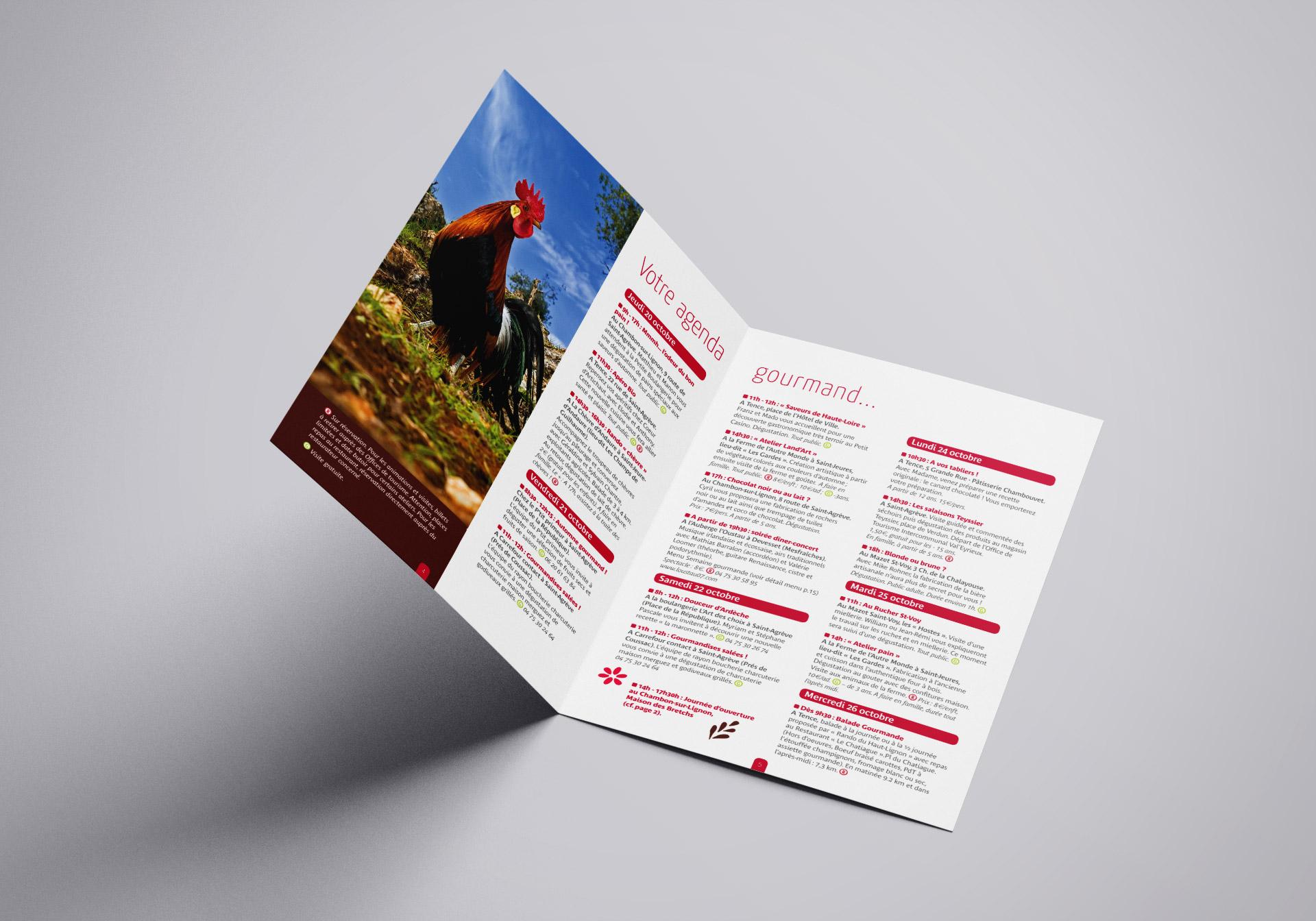 L'agence studio N3 crée la brochure de la semaine gourmande