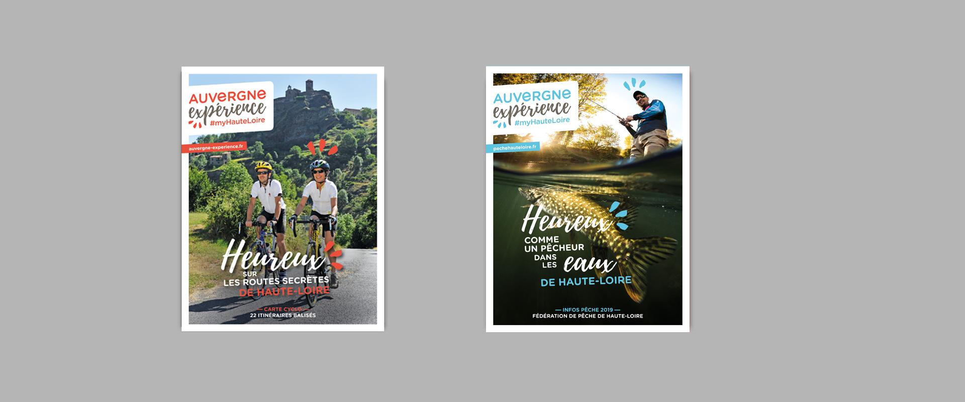 Créations de brochures Auvergne expérience par studio N°3