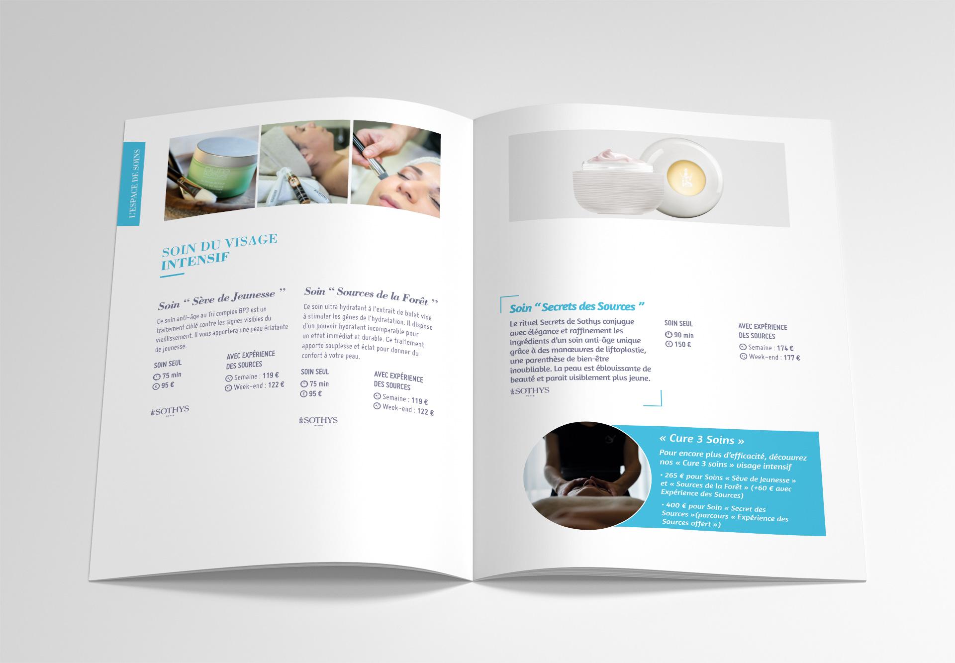 Brochures SHP, mise en page intérieure