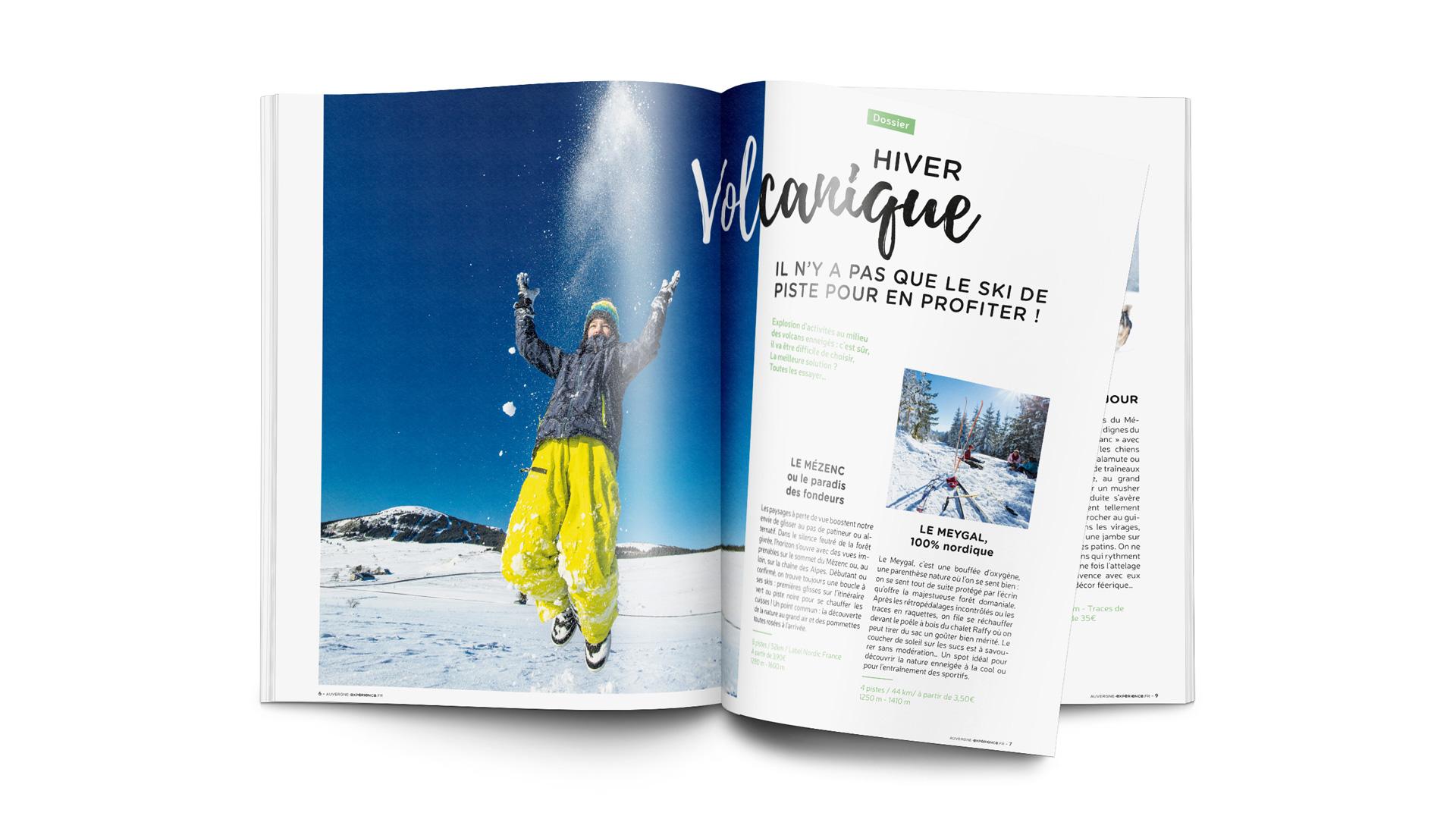 Créations de brochures Auvergne expérience pour le département de la Haute-Loire