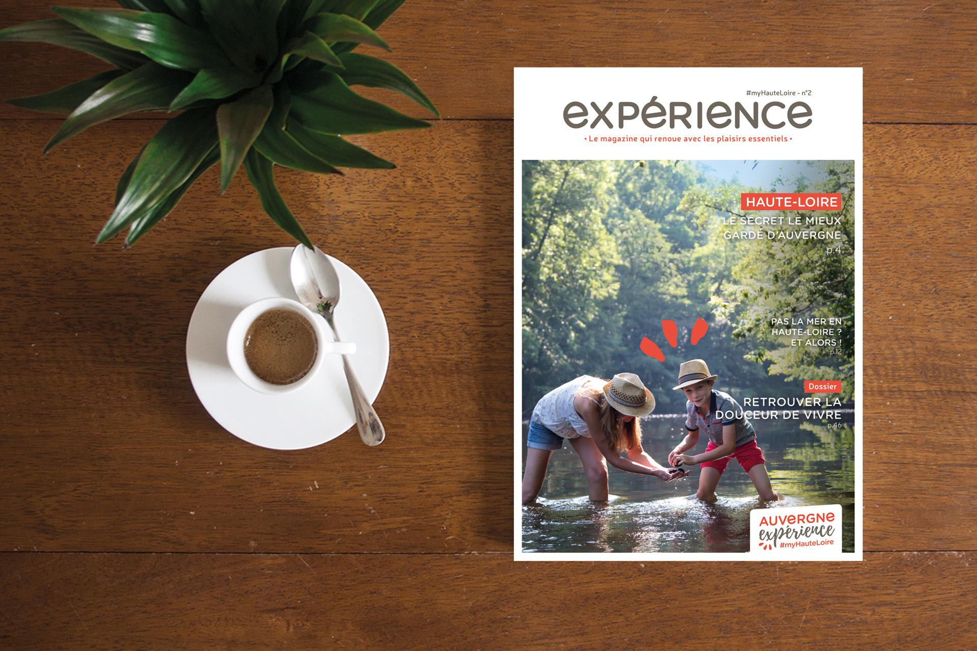 Créations de brochures Auvergne expérience en Haute-Loire