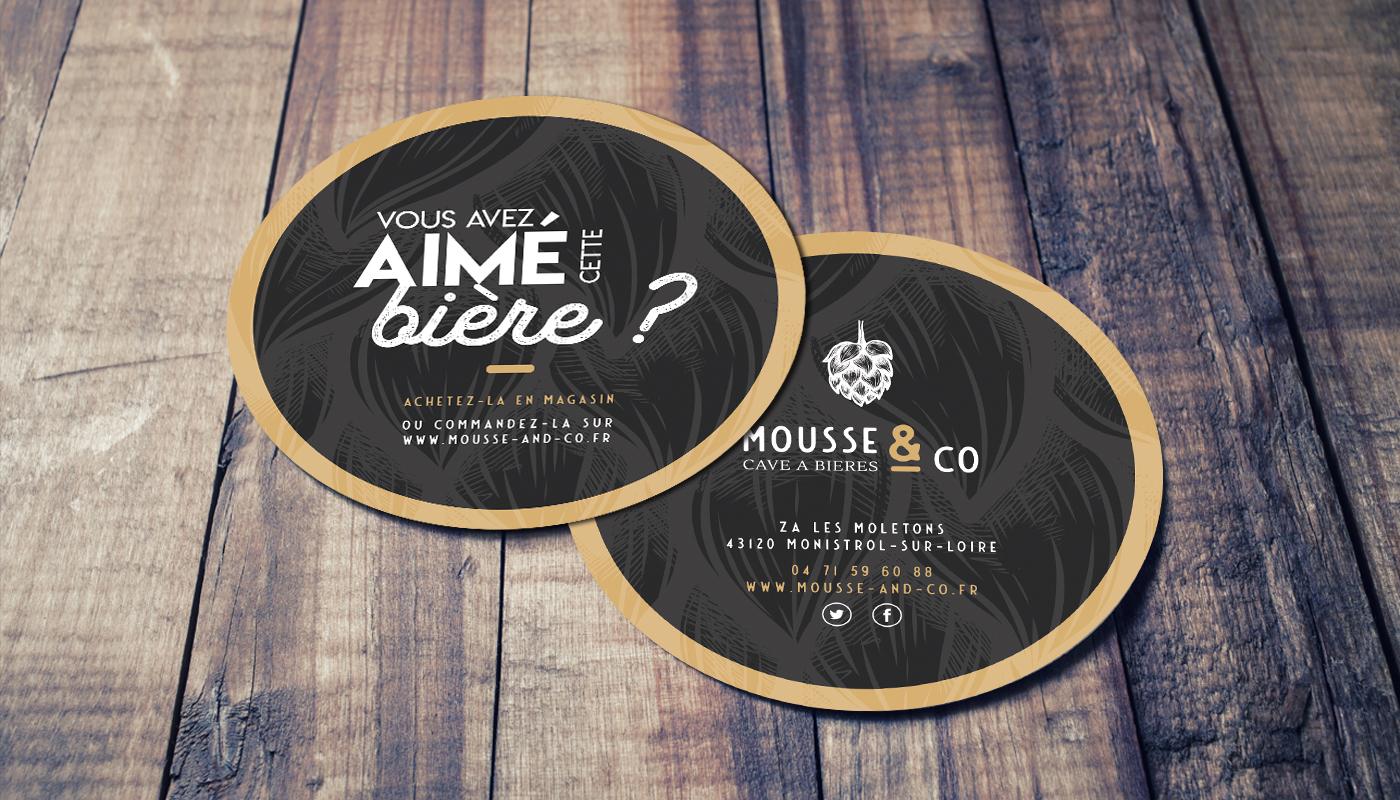 Création de sous-bock avec le logo Mousse and Co by studio N3
