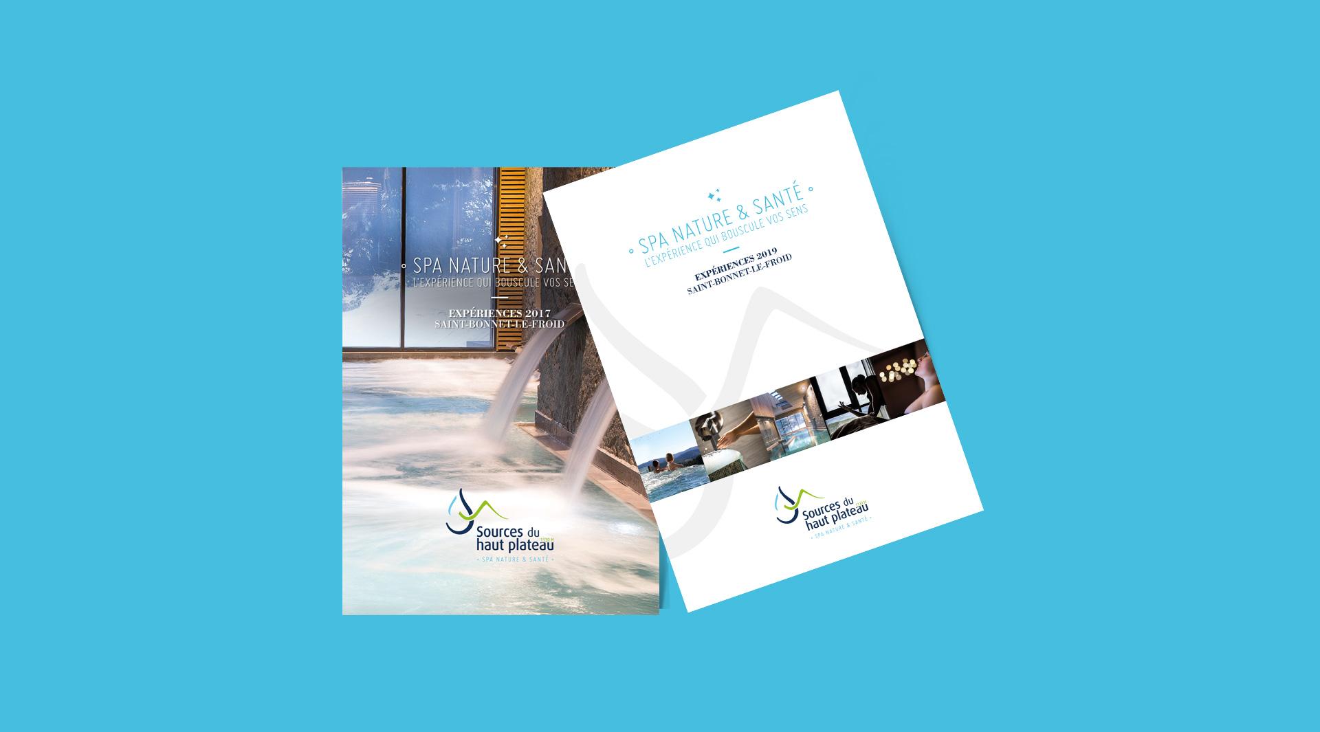 L'agence studio n°3 créé des brochures pour les Sources du haut plateau